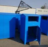 陕西西安马老板的200台旧衣回收箱两款