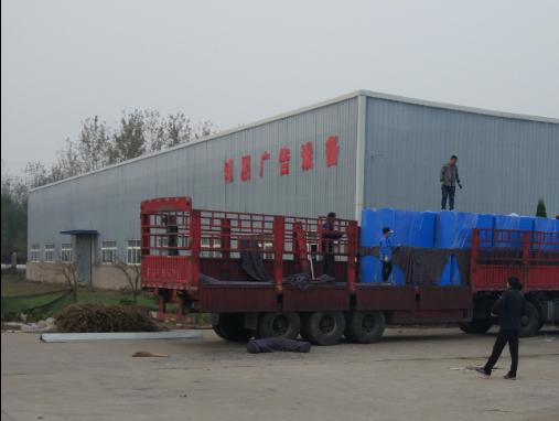 安徽郝总102台衣物回收箱发货