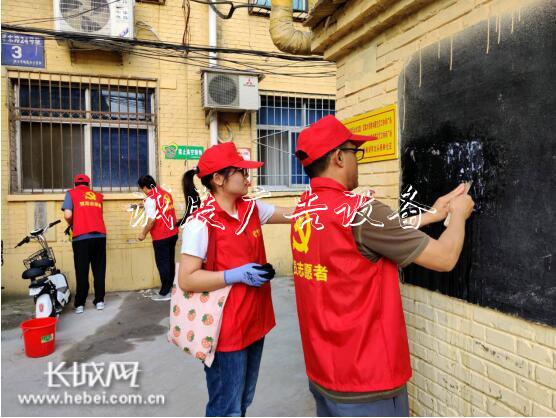 中国电信衡水分公司组宣传栏织开展党员志愿服务入社